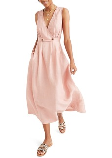 Madewell Button Waist Midi Dress
