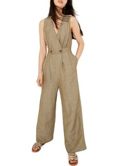 Madewell Button Waist Wide Leg Jumpsuit