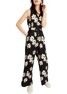 Madewell Button Waist Wide Leg Linen Jumpsuit