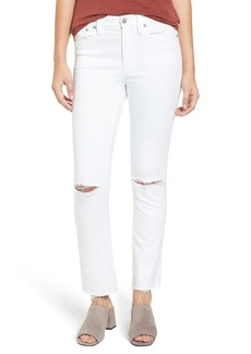 Madewell Cali Distressed Demi Boot Jeans (Pure White)