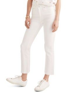 Madewell Cali Raw Edge Demi Boot Jeans (Pure White)