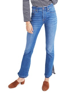 Madewell Cali Split Hem Demi Boot Jeans (Joan Wash)