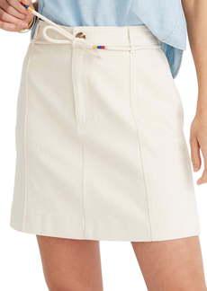 Madewell Capital A-Line Miniskirt