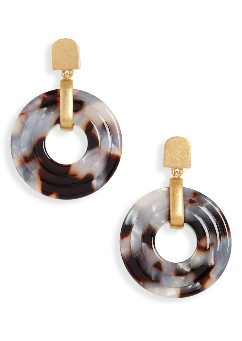 Madewell Carved Acetate Drop Earrings