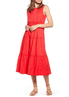 Madewell Cattail Tiered Dress