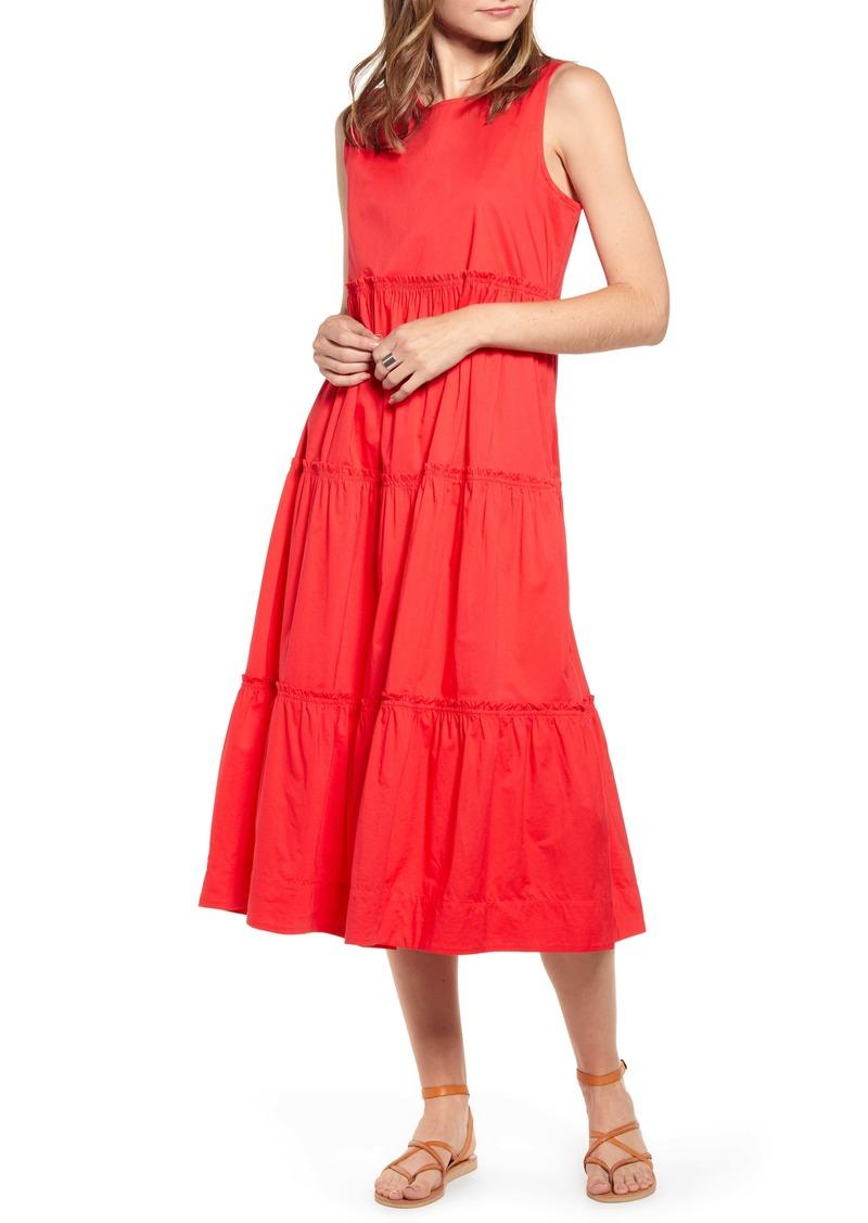 Madewell Cattail Tiered Dress