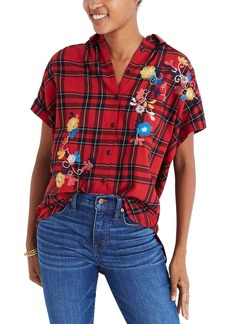 Madewell Central Embroidered Plaid Shirt