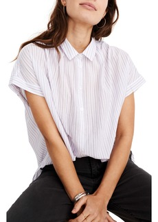 Madewell Central Lavender Stripe Shirt