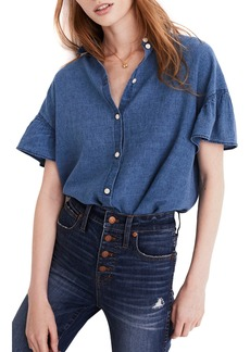 Madewell Central Ruffle Sleeve Shirt
