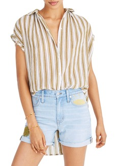 Madewell Central Stripe Tunic Shirt