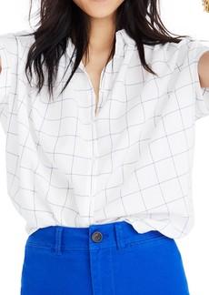 Madewell Central Windowpane Tie Sleeve Shirt