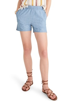 Madewell Chambray Pull-On Shorts