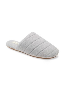 Madewell Chambray Quilted Scuff Slippers (Women)