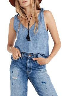 Madewell Chambray Tie-Strap Tank