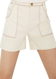 Madewell Chase Rainbow Stitched Canvas Shorts