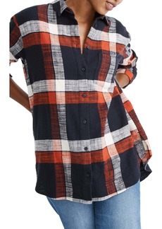 Madewell Check Print Oversize Ex-Boyfriend Shirt