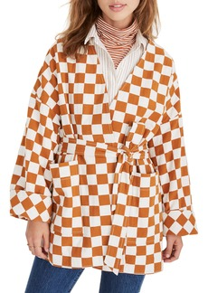 Madewell Checkerboard Kimono Wrap Jacket
