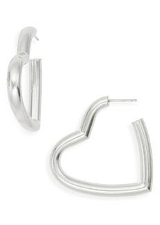 Madewell Chunky Heart Hoop Earrings
