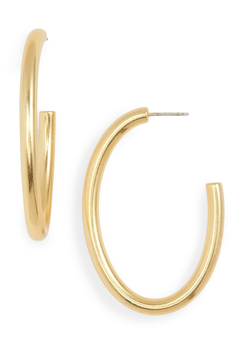 Madewell Chunky Oval Hoop Earrings
