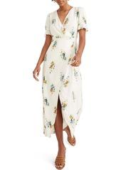Madewell Classic Corsage Ruffle Sleeve Maxi Dress