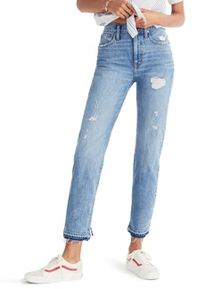 Madewell Classic Distressed Straight Leg Jeans (Tyler)