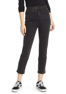 Madewell Classic High Waist Straight Leg Crop Jeans (Lunar)