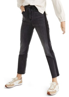 Madewell Classic Straight Jeans (Shadow Stripe)