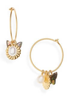 Madewell Collection Mix & Match Charm Hoop Earrings