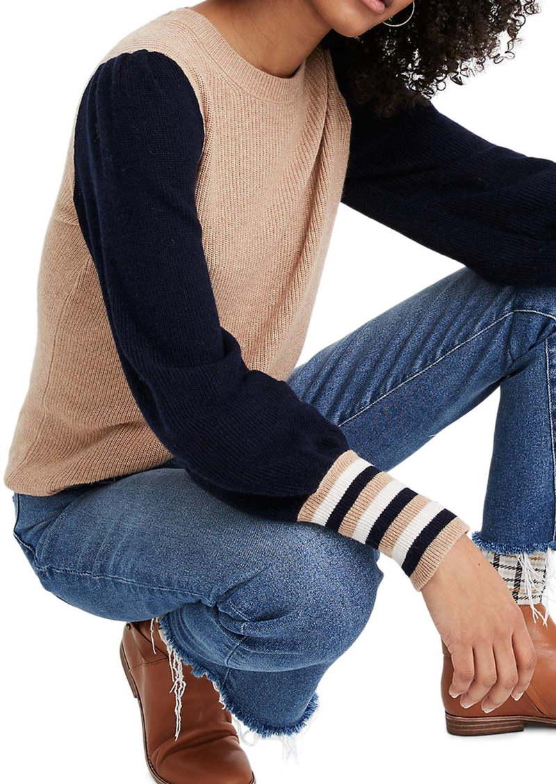 Madewell Colorblock Baybrook Pullover Sweater