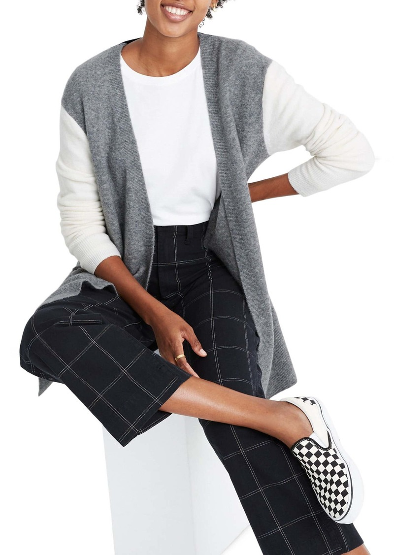 Madewell Colorblock Kent Cardigan Sweater