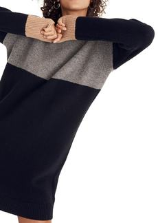 Madewell Colorblock Sweater Dress
