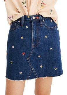 Madewell Confetti Floral Denim Miniskirt