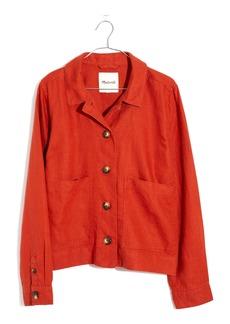 Madewell Connor Crop Linen Chore Jacket