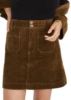 Madewell Corduroy A-Line Miniskirt