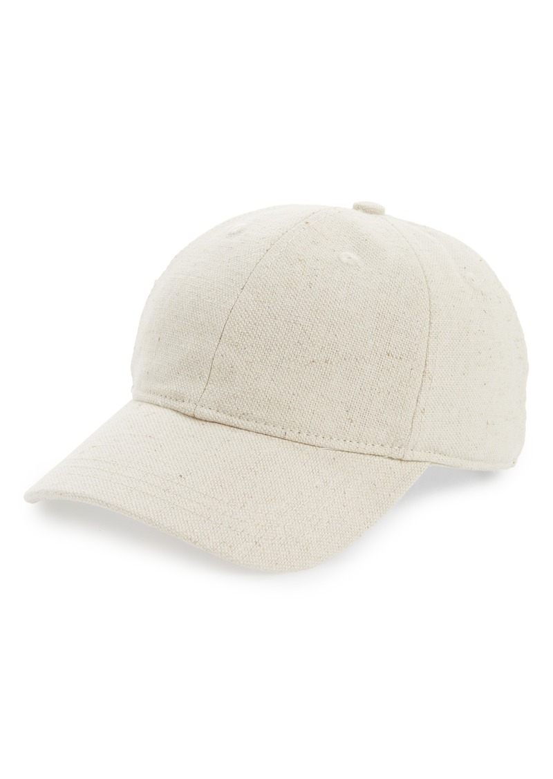 Madewell Cotton & Linen Baseball Cap