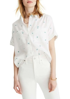 Madewell Courier Palm Print Shirt
