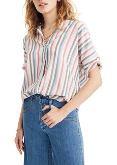 Madewell Courier Pocatello Stripe Button Back Shirt