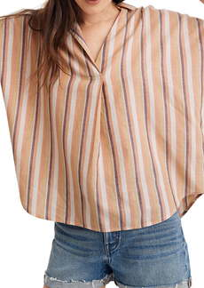 Madewell Courier Rainbow Stripe Button-Back Shirt