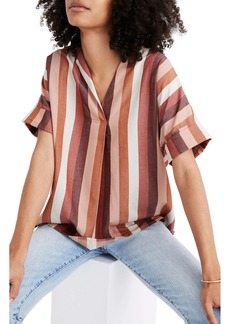 Madewell Courier Stripe Button Back Shirt