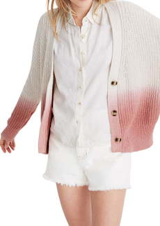 Madewell Courtland Dip Dye Cardigan Sweater