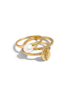 Madewell Cowrie Shell Set of 3 Rings