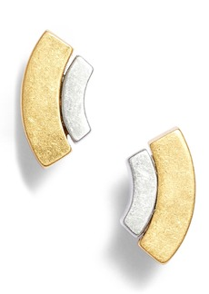 Madewell Crescent Layer Stud Earrings