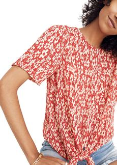 Madewell Crinkled Button Back Tie Tee