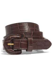 Madewell Croc Embossed Leather Wrapped Buckle Belt