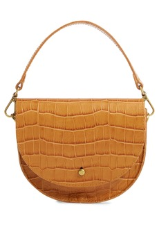 Madewell Croc Embossed The Small Richmond Saddle Bag