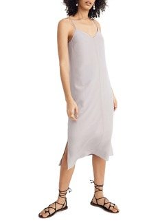 Madewell Cross Back Cami Silk Slipdress
