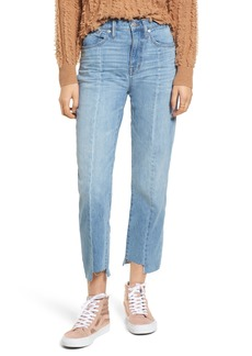 Madewell Cruiser Pieced High Waist Straight Leg Jeans (Travis Wash)