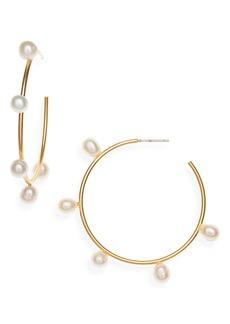 Madewell Cultured Pearl Hoop Earrings
