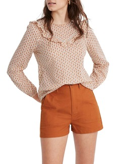 Madewell Cutout Blooms Ruffle Yoke Prairie Top