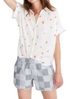 Madewell Daisy Embroidered Central Shirt